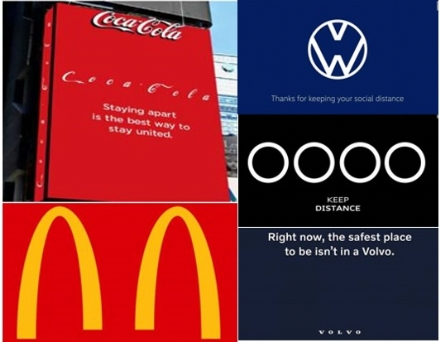 KNOWN BRANDS EMBRACING SOCIAL DISTANCING.